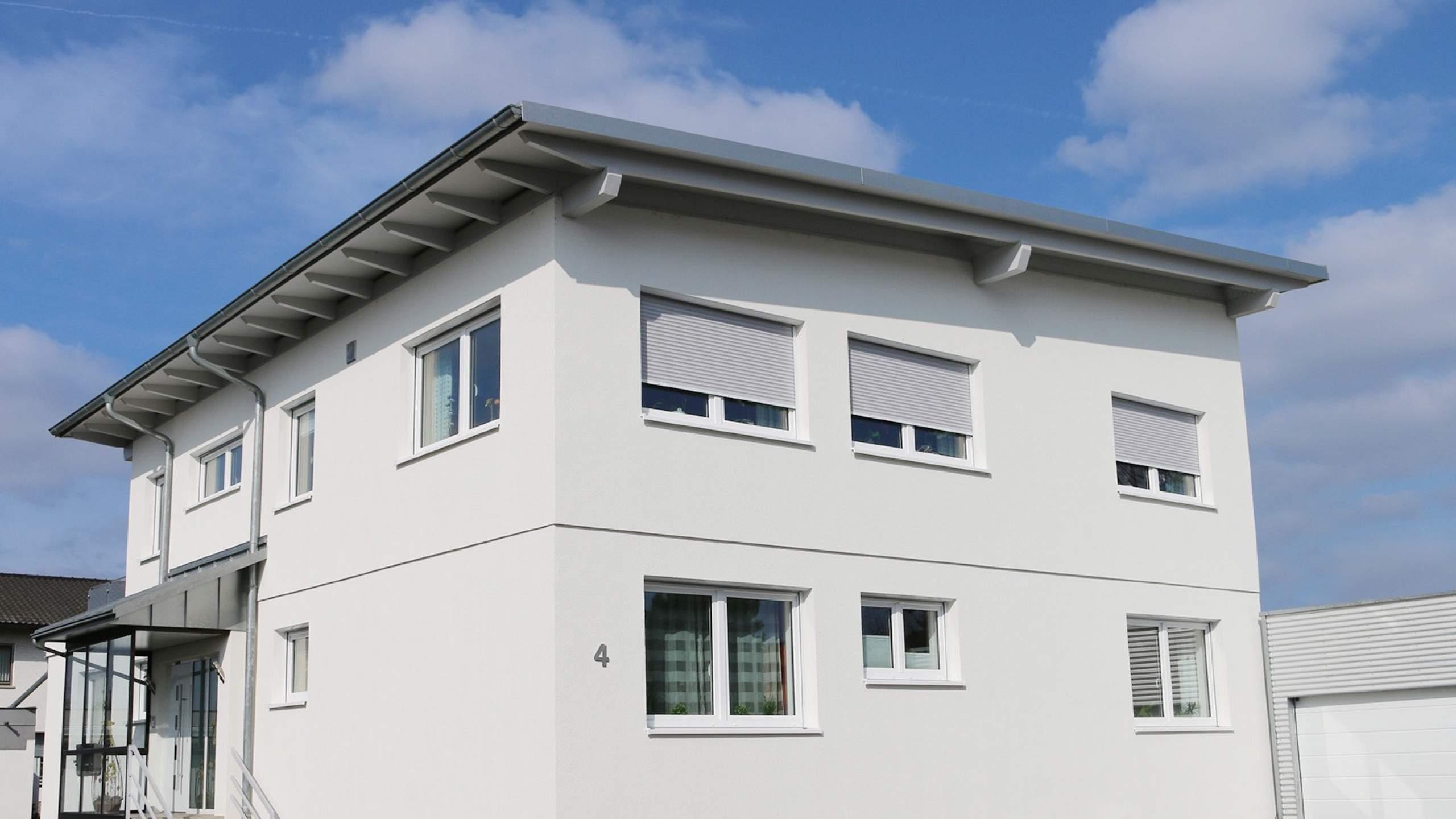 Mehrfamilienwohnhaus Modern mit Pultdach