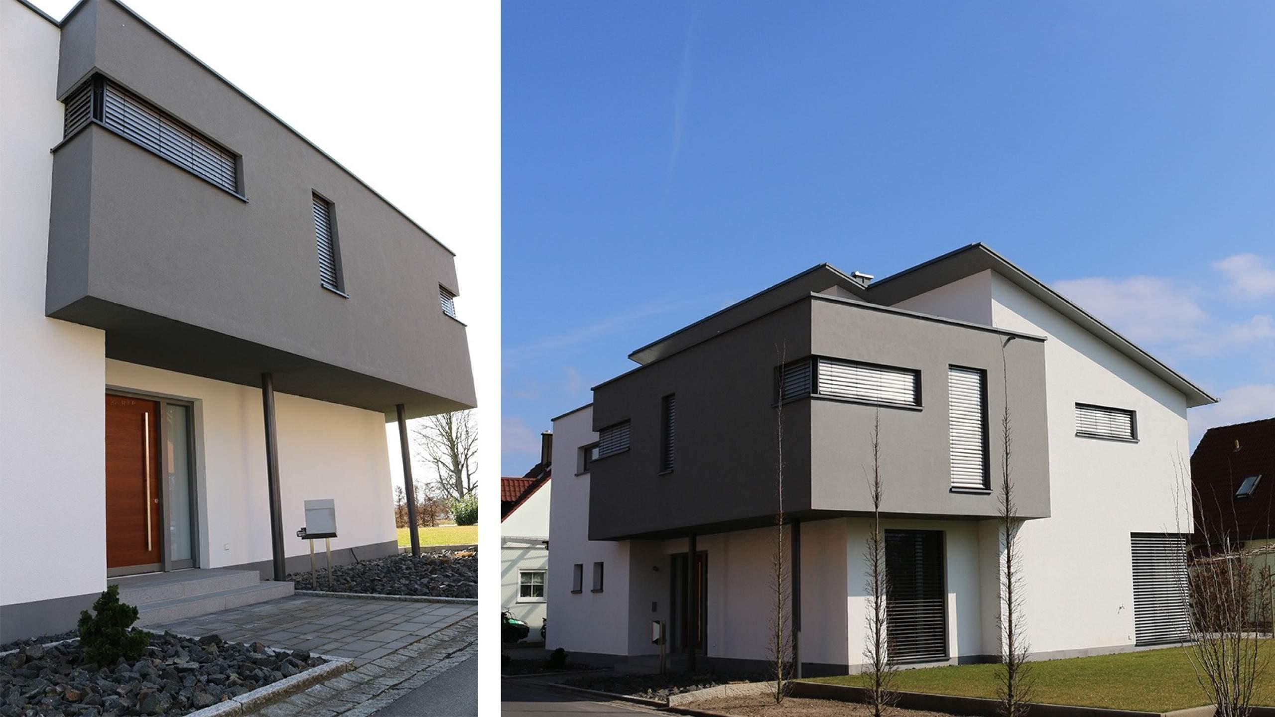 Einfamilienwohnhaus Modern Eingangsbereich